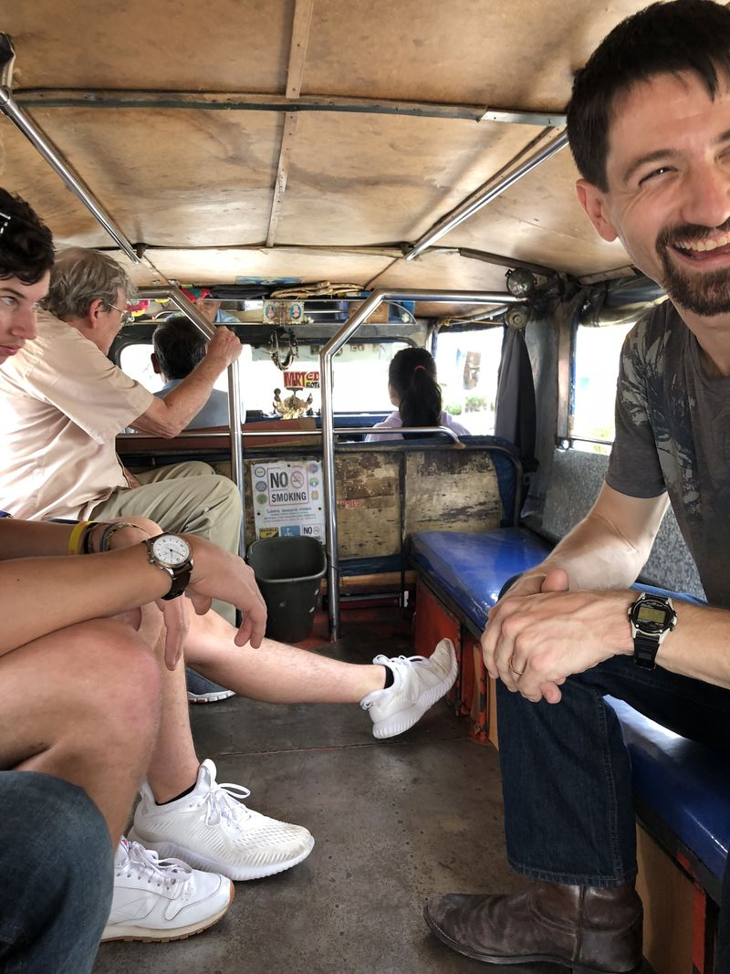 Our first ride in a jeepney